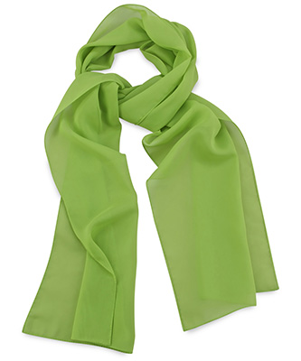 Scarf uni lime green