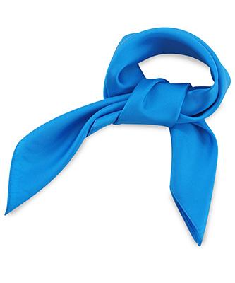 Scarf silk process blue