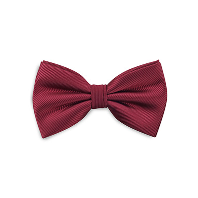 Bow tie bordeaux red repp