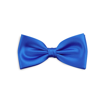 Bow tie electric blue