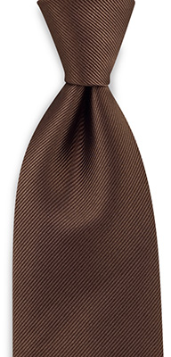 Necktie repp brown
