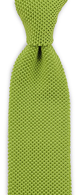 Necktie knitted lime green