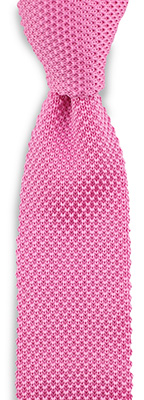 Necktie knitted silk pink