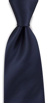Necktie navy blue repp
