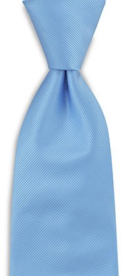 Necktie light blue repp