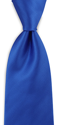 Necktie royal blue repp