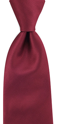 Necktie bordeaux red repp