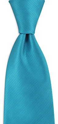 Necktie turkoois repp