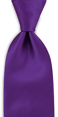 Necktie purple repp