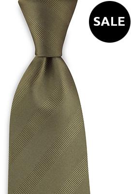 Necktie olive green