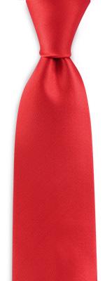 Necktie red narrow