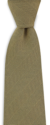 Necktie silk wool herringbone