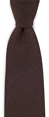 Necktie wool silk brown