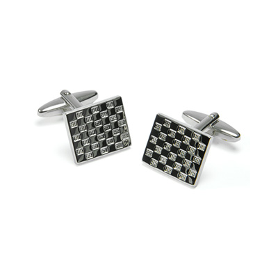 Cuff links Draughtboard