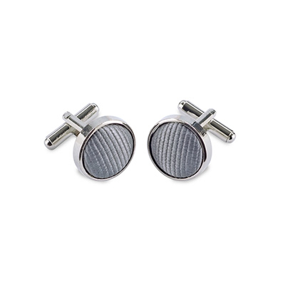 Cuff links silk grey