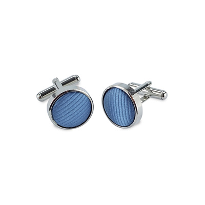 Cuff link silk ice blue