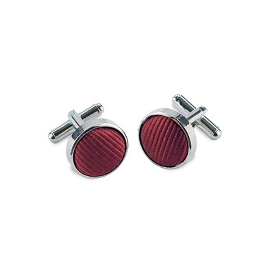 Cuff links silk bordeaux