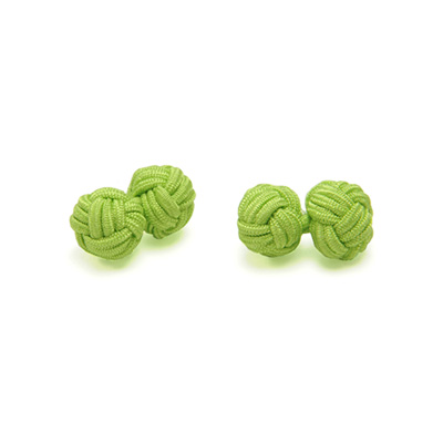 Cufflinks fabric lime green