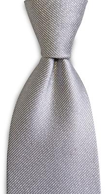 Necktie silver